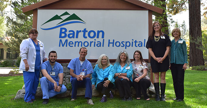 It takes a collaborative and comprehensive team to provide safe, high quality care. Pictured here are some of the team members that helped Barton Memorial Hospital achieve five Best Performance awards. From left to right: Amy Isenhart, RN, Wound Care Nurse