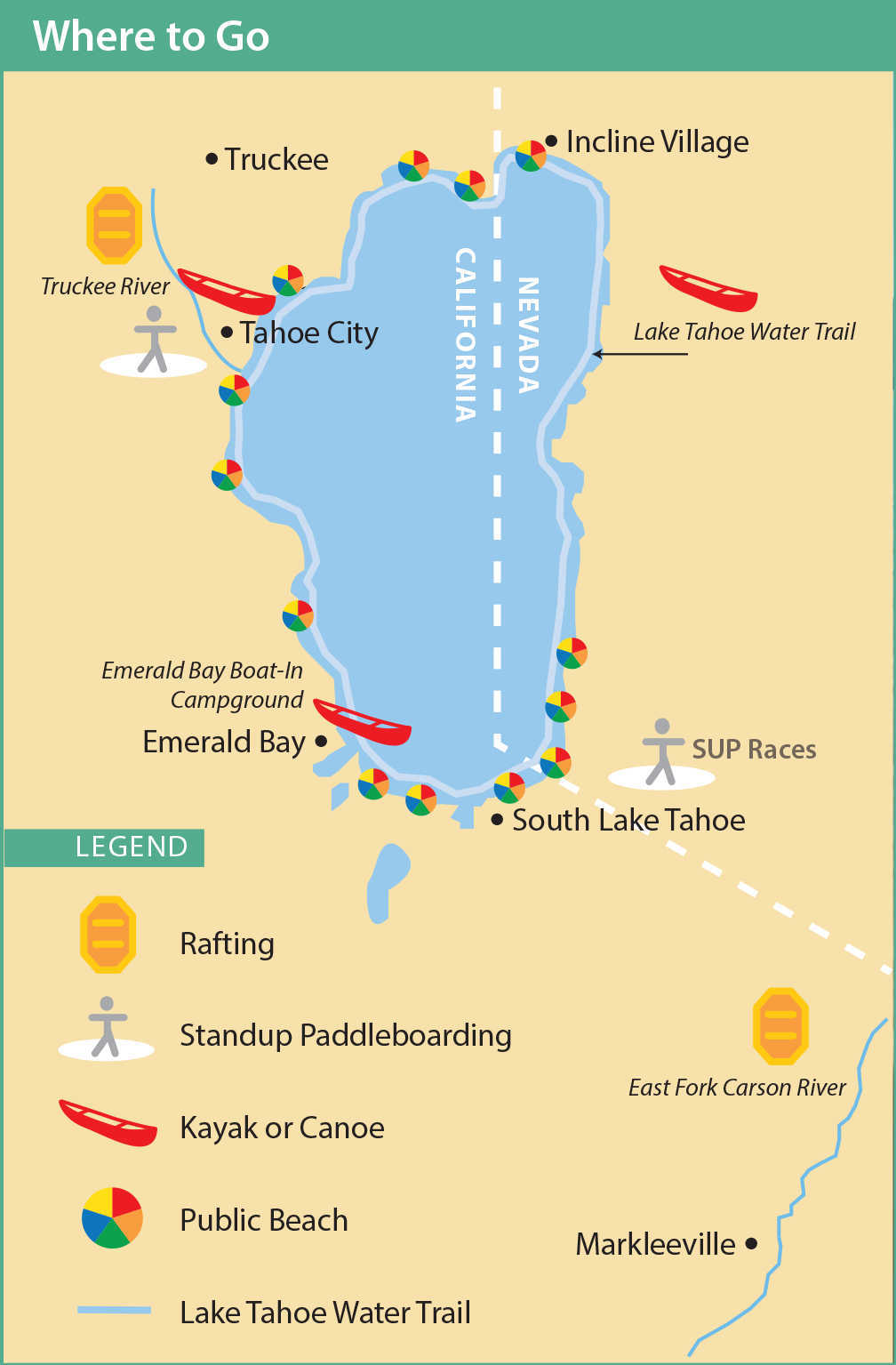Lake Tahoe Location Map