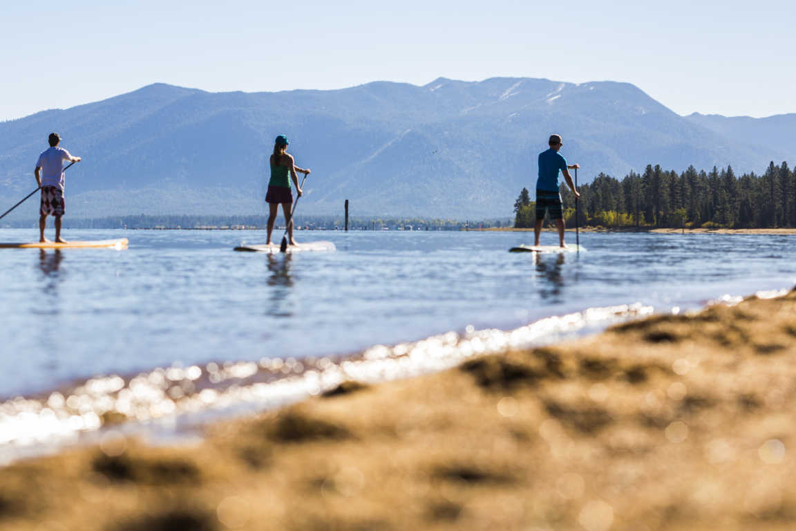 Three Paddle Boarders